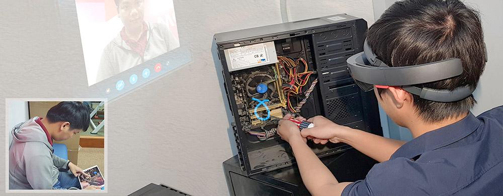 ホロレンズでMR遠隔業務支援システム開発