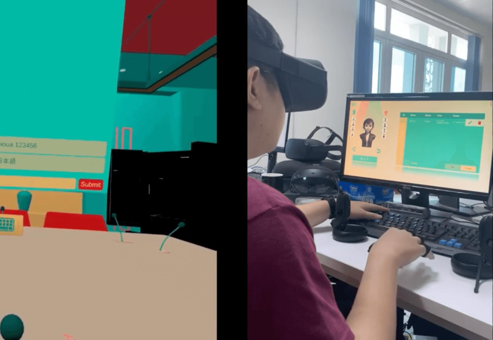 VRオフィス空間でエアタッチタッピングで文字入力。TapStrap2ウェアラブルキーボードの研究開発