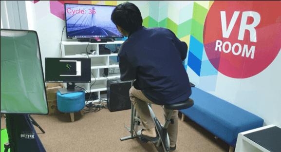 Kinect for Windows(キネクト)でペダル認識、VRトレーニングバイクのための研究開発