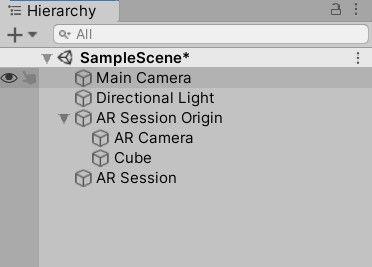 Main Camera」は必要ないので、右クリックをしDeleteで削除する