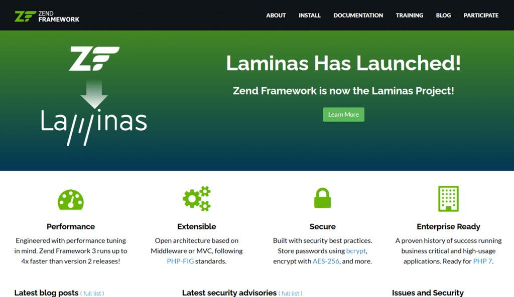 zend-Laminas-framework