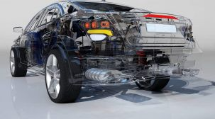3DS MAXで自動車の車両やパーツのARシミュレーション向け3Dリモデリング